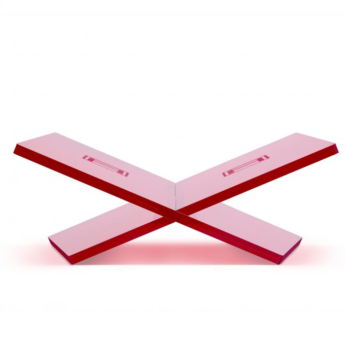 A bookstand red