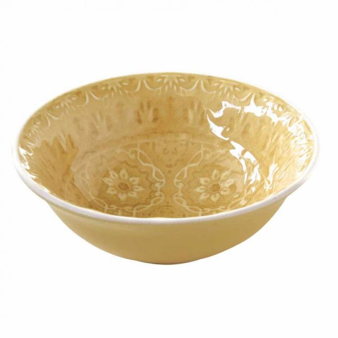 Ambiente yellow amber bowl 12cms